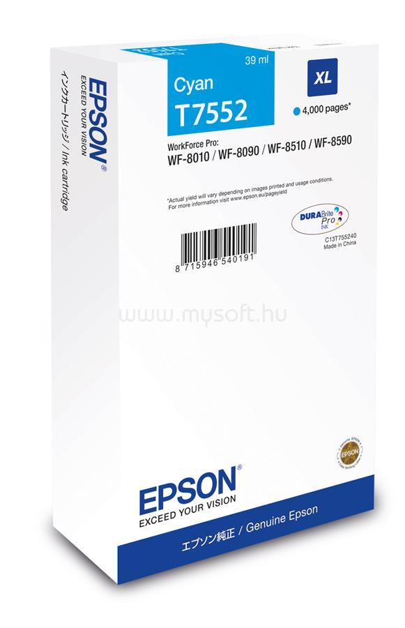 EPSON T7552 Cyan XL ink bottle 39ml 4 000 oldal