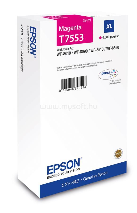 EPSON T7553 Magenta XL ink bottle 39ml 4 000 oldal