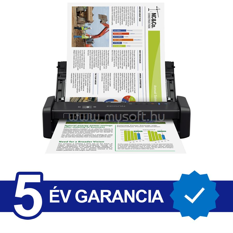 EPSON WorkForce DS-360W mobil szkenner