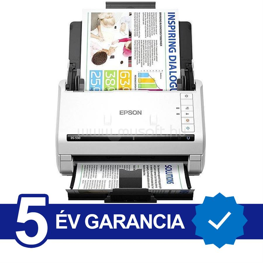 EPSON WorkForce DS-530N A4 lapáthúzós dokumentumszkenner