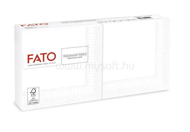 """FATO Szalvéta, 1/4 hajtogatott, 25x25 cm, """"Smart Table"""", fehér (100 db)"""