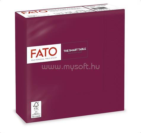"""FATO Szalvéta, 1/4 hajtogatott, 33x33 cm, """"Smart Table"""", bordó (50 db)"""