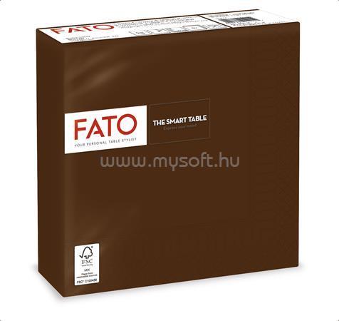 """FATO Szalvéta, 1/4 hajtogatott, 33x33 cm, """"Smart Table"""", csokoládé barna (50 db)"""