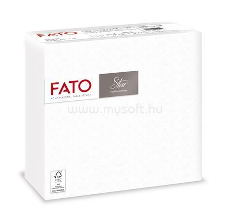"""FATO Szalvéta, 1/4 hajtogatott, 38x38 cm, """"Star"""", fehér (50 db)"""