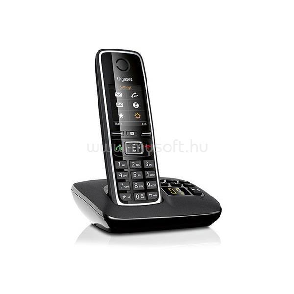 GIGASET C530A fekete üzenetrögzítős dect telefon