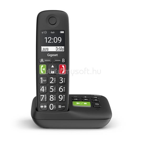 GIGASET ECO DECT Telefon E290A fekete, üzenetrögzítő