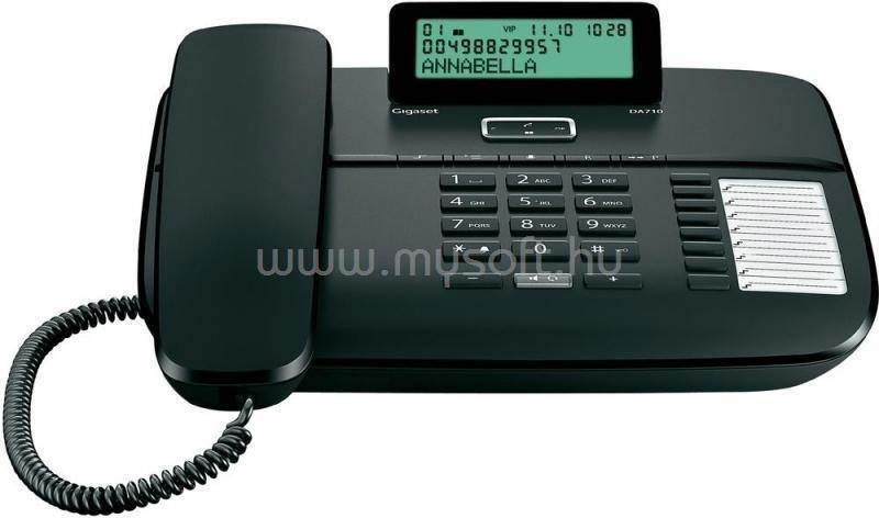 GIGASET Telefon DA710 fekete