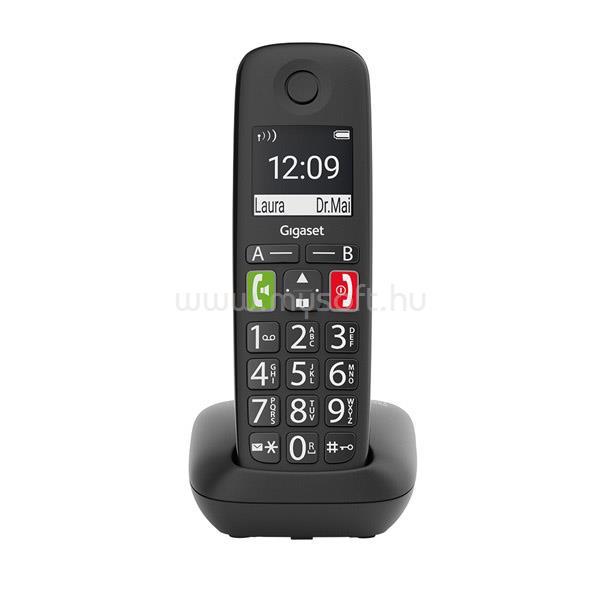 GIGASET E290 ECO DECT Telefon (fekete)