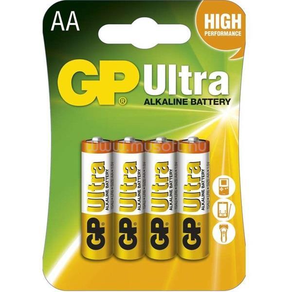 GP BATTERIES B1921 Ultra alkái AA (LR6) ceruza elem 4db/bliszter