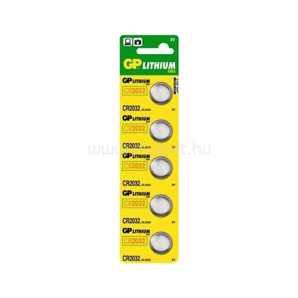 GP BATTERIES CR2032 lítium gombelem 5db/bliszter