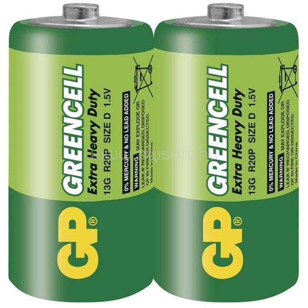 GP BATTERIES Greencell 13G B1240 2db/zsugor góliát (D) elem