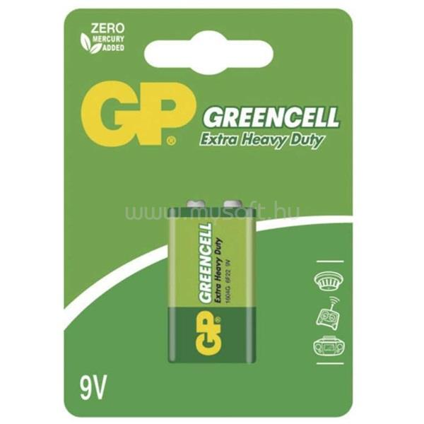 GP BATTERIES Greencell 9V, 1604G elem 1db/blister