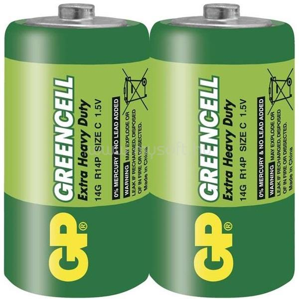 GP BATTERIES Greencell Baby C (R14) elem 2db/zsugor