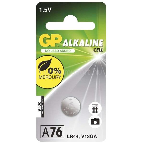 GP BATTERIES LR44 (A76) alkáli gombelem 1db/bliszter