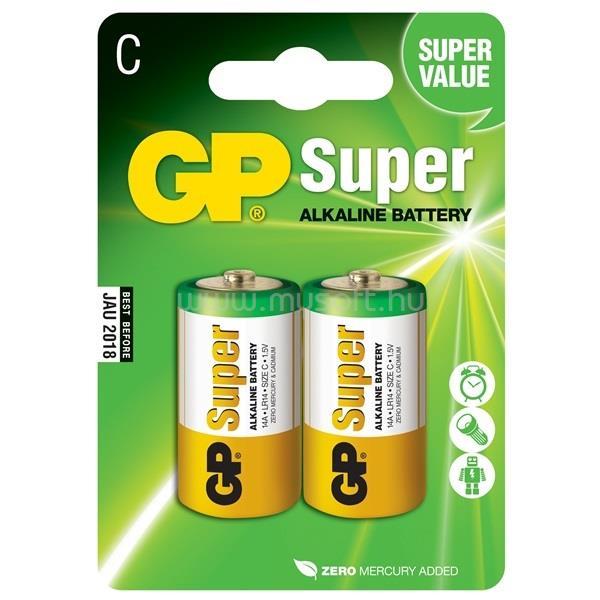 GP BATTERIES Super Alkáli Baby C elem 2db/bliszter