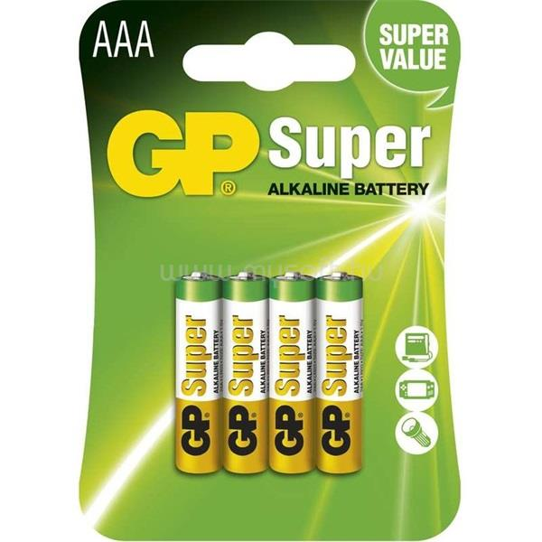 GP BATTERIES GP Super alkáli 24A 4db/blister mikro ceruza (AAA) elem