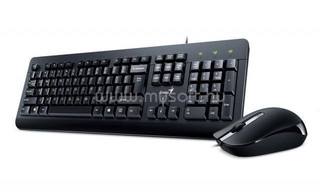 GENIUS KM-160 Billentyűzet/Egér USB, HU (fekete)