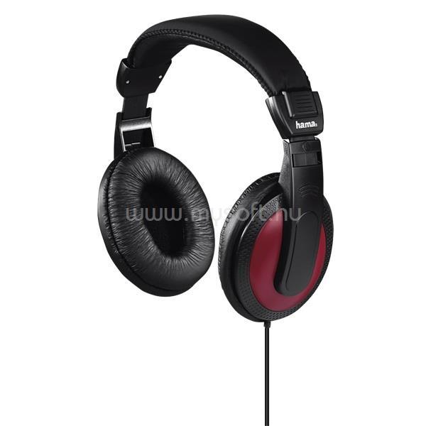 HAMA HK-5618 vörös sztereó fejhallgató