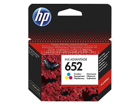 HP 652 Tricolor Tintapatron (200 oldal) F6V24AE large