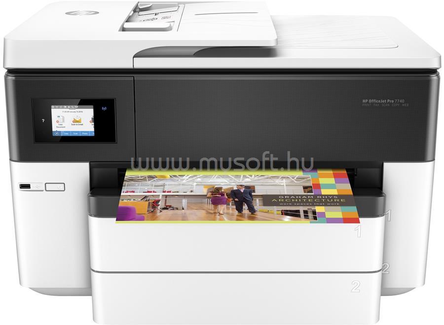 HP Officejet Pro 7740 Wide Format Color Multifunction Printer G5J38A large