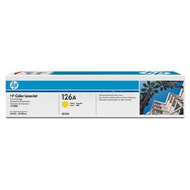HP 126A Yellow LaserJet Toner Cartridge, CE312A