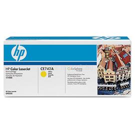 HP 307A Yellow LaserJet Toner Cartridge, CE742A