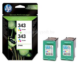 HP 343 2-pack Tri-color Inkjet Print Cartridges, CB332EE