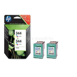HP 344 2-pack Tri-colour Inkjet Print Cartridges, C9505EE