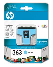 HP 363 Light Cyan Ink Cartridge, C8774EE