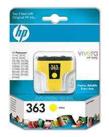 HP 363 Yellow Ink Cartridge, C8773EE