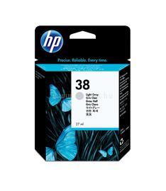 HP 38 Light Gray Pigment Ink Cartridge, C9414A