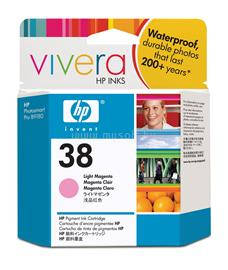 HP 38 Light Magenta Pigment Ink Cartridge, C9419A