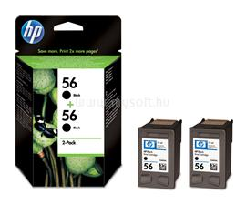 HP 56 2-pack Black Inkjet Print Cartridges, C9502AE
