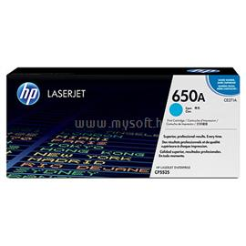 HP 650A Cyan LaserJet Toner Cartridge, CE271A