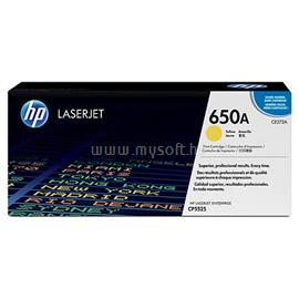 HP 650A Yellow LaserJet Toner Cartridge, CE272A