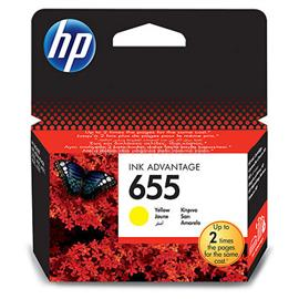 HP 655 Yellow Ink Cartridge (600 oldal), CZ112AE