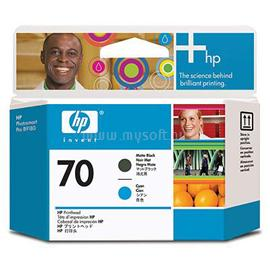 HP 70 Matte Black and Cyan Printhead, C9404A