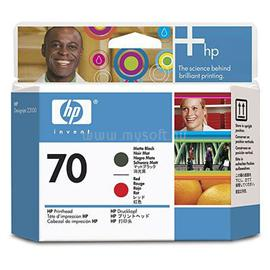 HP 70 Matte Black and Red Printhead, C9409A
