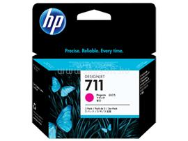 HP 711 3-pack 29-ml Magenta Ink Cartridges, CZ135A