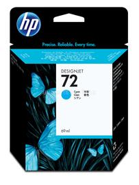 HP 72 69-ml Cyan Ink Cartridge, C9398A
