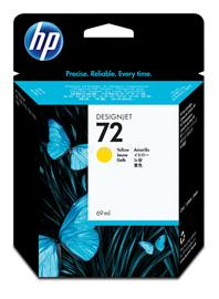 HP 72 69-ml Yellow Ink Cartridge, C9400A
