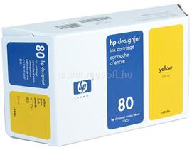HP 80 350-ml Yellow Ink Cartridge, C4848A