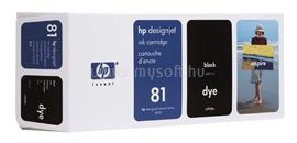 HP 81 680-ml Black Dye Ink Cartridge, C4930A