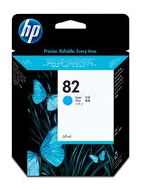 HP 82 69-ml Cyan Ink Cartridge, C4911A