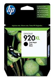 HP 920XL Black Officejet Ink Cartridge, CD975AE