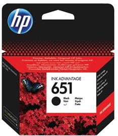 HP 651 Black Original Ink Advantage Cartridge (600 oldal), C2P10AE