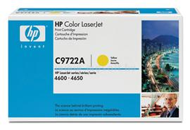 HP Color LaserJet C9722A Yellow Print Cartridge, C9722A