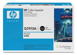 HP Color LaserJet Q5950A Black Print Cartridge, Q5950A