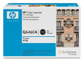 HP Color LaserJet Q6460A Black Print Cartridge, Q6460A