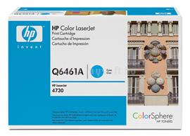 HP Color LaserJet Q6461A Cyan Print Cartridge, Q6461A